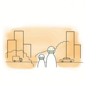 maska dla dzieci smog